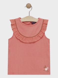 Tee Shirt Manches Courtes Rouge TYOPIETTE / 20E2PF21TMC404
