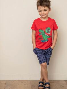 T-shirt rouge imprimé Dinosaure ZUZAGE3 / 21E3PGL2TMC050