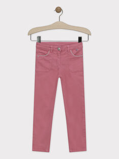 Pantalon slim rose fille SYTOMETTE / 19H2PFE1PAN307