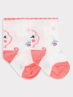 Chaussettes écrues fantaisies bébé fille TAFIDELE / 20E4BFD1SOQ001