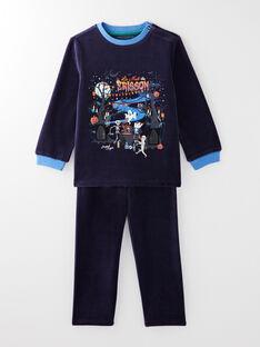 Pyjama marine en velours thème Halloween  VALOAGE / 20H5PGP1PYJ070
