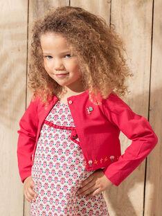 Gilet pivoine en maille enfant fille TIUTETTE / 20E2PFQ1CARF510