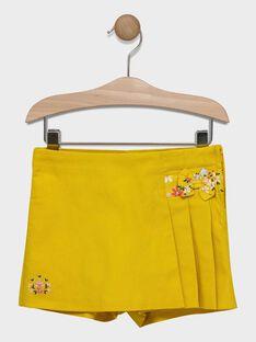 Jupe short jaune fille SIKAWETTE / 19H2PF41JPS107