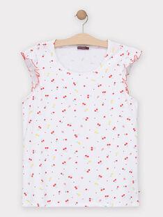 T-shirt écru imprimé fruit femme TUFEF / 20E2FFH1TMC001