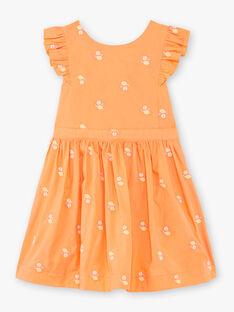 Robe orange à volants  ZIBRODETTE / 21E2PFO1CHS406