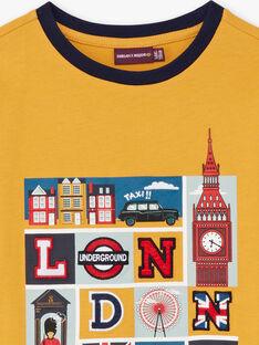 T-shirt jaune imprimé Londres enfant garçon BEDOUAGE / 21H3PG51TMLB114