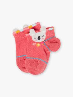 Chaussettes rose bébé fille  TAVITA / 20E4BFX1SOBF507