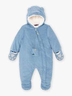 Pilote bleu en velours côtelé bébé garçon BIRACHEL / 21H1BGE2PIL216
