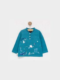Tee shirt manches longues bleu  PAJEAN / 18H1BGE1TML213