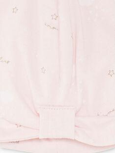 Bonnet de naissance rose pâle bébé fille ZOLA / 21E0AFG1BNA000