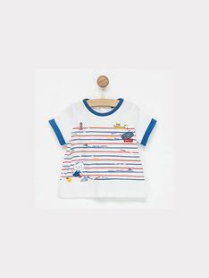 Tee shirt manches courtes marin NAIDAVID / 18E1BGG1TMC000