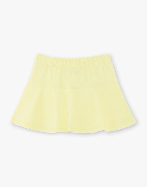 Jupe jaune enfant fille ZLUCETTE3 / 21E2PFL3JUPB104