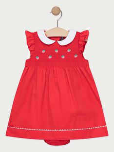 Robe rouge bébé fille  TAMATHILDE / 20E1BFH1ROB050