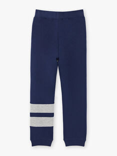 Jogging bleu marine et gris à détails contrastés enfant garçon ZEJOGAGE2 / 21E3PGK1JGB070