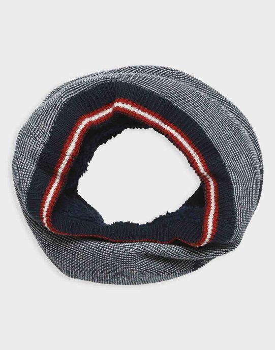 Snood marine en tricot fantaisie petit garçon TACOUAGE / 20E4PGC1SNO070