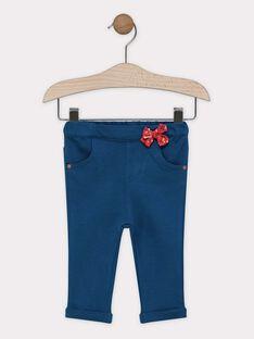 Baby girls' petrol blue leggings SAAMY / 19H1BF21PAN714