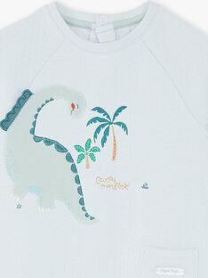 Grenouillère tubique dinosaures  ZEBARAK / 21E5BG11GRE213