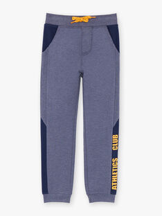 Jogging  bleu chiné à détails contrastés enfant garçon ZEBALAGE2 / 21E3PGK3JGB222