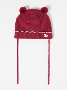 Bonnet prune bébé fille  VAELLIE / 20H4BF81BON709