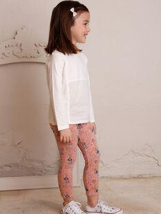 Legging doublé rose imprimé  ZALEGETTE / 21E4PF71CALD327