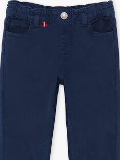 Pantalon bleu marine 5 poches enfant garçon ZAZITAGE1 / 21E3PGK2PAN070
