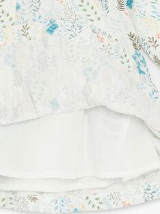 Robe manches longues imprimée en twill ZABETSY / 21E1BF71ROB009