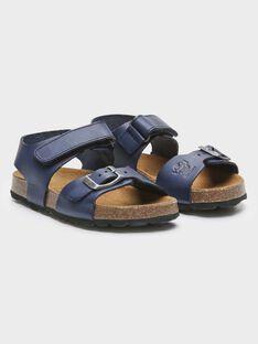 Sandales bleue en cuir petit garçon  TILOUSAGE / 20E4PGW1CHTC205