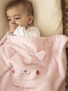 Couverture rose pale bébé fille ZOELY / 21E0AFG1D4P301