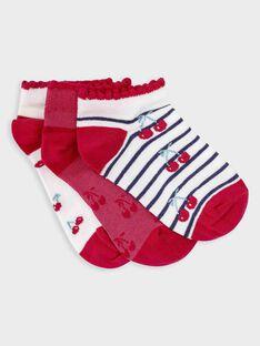 Lot de 3 paires de chaussettes basses petite fille  TOURUETTE / 20E4PF91LCB001
