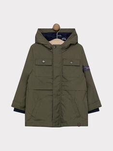 Kaki Rain coat SAXENAGE / 19H3PG73IMP628