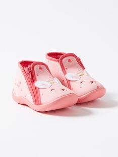 Pantoufle rose bébé fille VELOUNA / 20H5BF21CH5D326