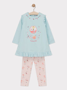Pyjama sirène petite fille  TEJONETTE / 20E5PF73CHN213