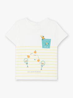 Tee-shirt à rayures jaunes  ZAMOMO / 21E1BGO1TMC001