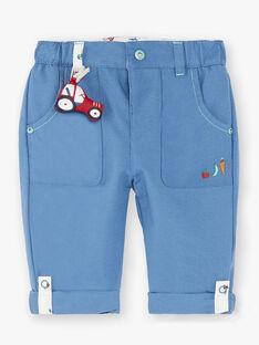 Pantalon bleu avec jambes retroussables ZAKAMIL / 21E1BGJ1PANC206