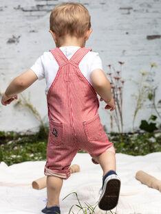 Salopette en sergé à rayures bébé garçon BABERLIN / 21H1BG11SAL050
