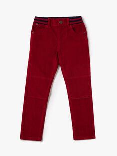Pantalon rouge en velours fantaisie  VYXAGE-2 / 20H3PGG4PANF527