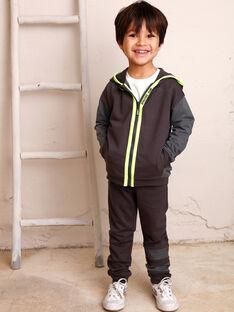Jogging gris foncé à détails contrastés enfant garçon ZEJOGAGE1 / 21E3PGK4JGB942