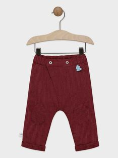 Dark burgundy pants SAORTON / 19H1BGE1PAN503