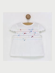 Tee shirt manches courtes écru RAMADINE / 19E1BFE1TMC001