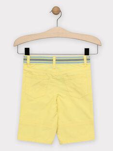 Bermuda jaune garçon  TIERAGE / 20E3PGO1BER106