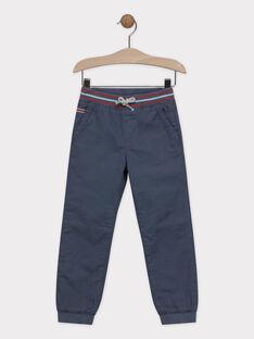 Pantalon gris doublé polaire garçon SERIBAGE / 19H3PGE3PANJ901