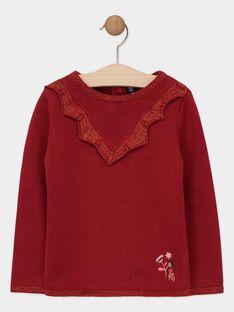 Pull tricot pourpre fille SOINILETTE / 19H2PFI1PULF511