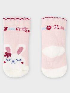 Chaussettes bouclettes rose bébé fille TADIVA / 20E4BFC1SOQ301