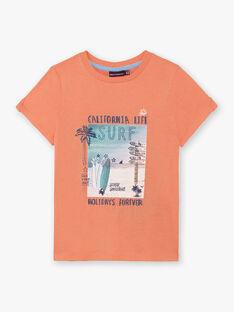 T-shirt orange imprimé surf ZOAMAGE / 21E3PGU1TMCD311
