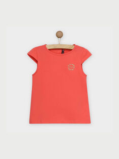 Tee shirt manches courtes rose RUFAPETTE 2 / 19E2PFH3TMC404