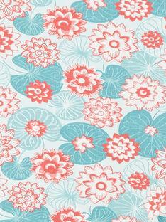Caleçon imprimé fleurs de lotus ZACLAIRE / 21E4BFI2CAL629