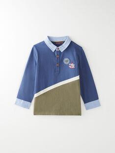 Polo bleu avec découpe VEJALAGE / 20H3PGL1POLC201