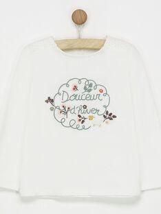 Tee shirt manches longues blanc PANEZOETTE / 18H2PFP2TML001