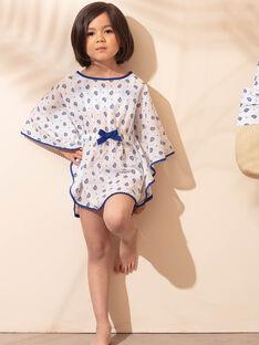 Tunique de plage écrue imprimé cachemire enfant fille ZAIRUETTE / 21E4PFR2TDP001