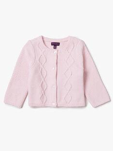 Cardigan rose en tricot VAORORE / 20H1BFW2CAR301